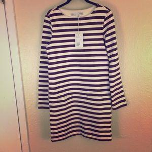 & other stories purple stripe dress